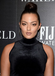Mia Kang styled her hair into a top knot for the screening of 'Wakefield.'