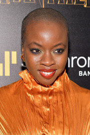 Danai Gurira attended the screening of 'Black Panther' wearing a cool buzzcut.