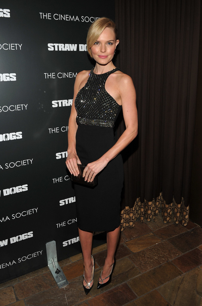"Actress Kate Bosworth attends The Cinema Society screening of Screen Gems&squot; ""Straw Dogs"" at the Tribeca Grand Hotel on September 15, 2011 in New York City."