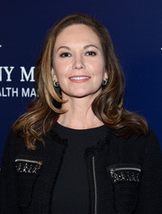 Diane Lane looked stylish with her bouncy, wavy layers at the New York screening of 'Paris Can Wait.'