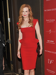 Nicole Kidman wore her gorgeous red hair in curls at a screening of 'Snow Flower and the Secret Fan.'