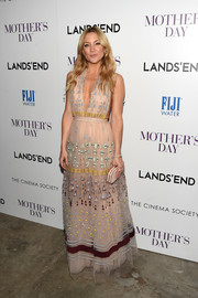 Kate Hudson made an enchanting appearance at the screening of 'Mother's Day' in a geometric-embroidered halter gown by Valentino.