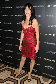 Juliette Lewis attended the screening of 'Conviction' wearing