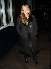 Sheryl wears a fur lined plaid coat for the premiere of 'Meek's Cutoff.'