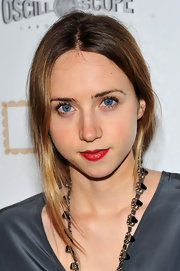 Zoe Kazan opted for a ripe red pout at the screening of 'Meek's Cutoff.'