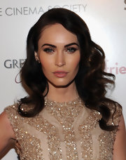 Megan Fox attended a screening of 'Friends With Kids' wearing a smoky-eyed makeup look created with shimmering metallic shadows.