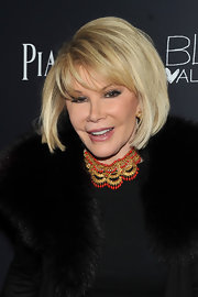 Television host Joan Rivers showed off her signature bob and blunt cut bangs at the screening of 'Blue Valentine'.