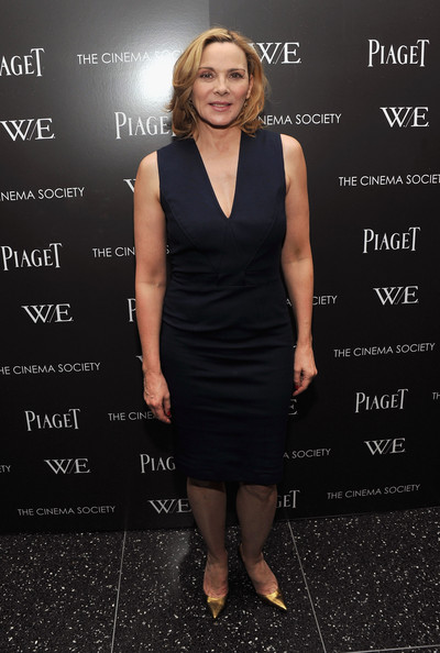 In A Cocktail Dress At The 'W.E.' Premiere