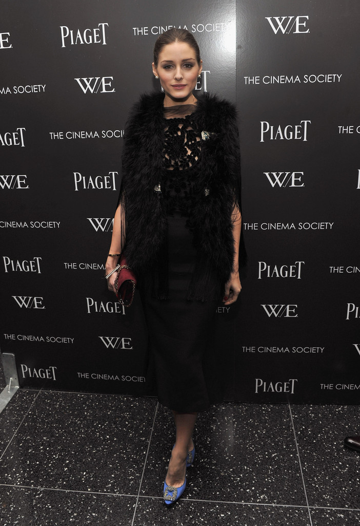 "Olivia Palermo attends the Cinema Society & Piaget screening of ""W.E."" at The Museum of Modern Art on December 4, 2011 in New York City."