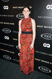 Zosia Mamet channeled her inner hippie with this retro-style dress with a cool floral print.