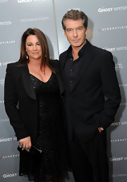 With its strong silhouette, Keely Shaye Smith's black blazer was a nice contrast to her soft dress.