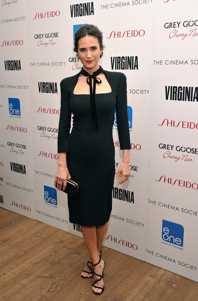 Jennifer Connelly stepped into a chic pair of strappy sandals for a screening of 'Virginia.'
