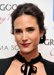 Jennifer Connelly attended a screening of 'Virginia' wearing her silky tresses swept up into a classic bun.
