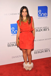 Ally Hilfiger chose a red frock with a fitted waist for her look at the premiere of 'Scatter My Ashes.'