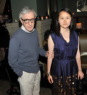 Soon-Yi Previn's gold cuff bracelet and paillette dress at the 'Midnight in Paris' screening were an elegant pairing.