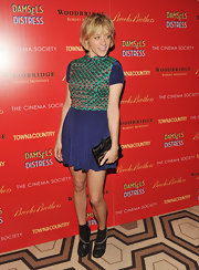 Chloe Sevigny stepped out in a pair of leather ankle boots with chain detail for a screening of 'Damsels In Distress.'