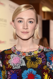 Saoirse Ronan kept it super simple with this short straight style at CinemaCon 2018.