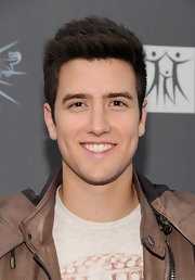 Logan Henderson styled his thick hair in a spiky 'do for the 2011 Spirit of Life Awards.