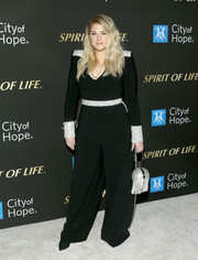 Meghan Trainor donned a black jumpsuit with silver embellishments for the City of Hope's Spirit of Life 2019 Gala.