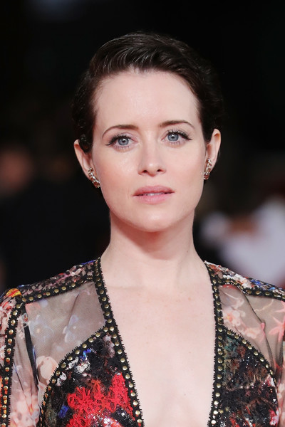 Claire Foy Short Side Part [the girl in the spiders web,hair,face,fashion,fashion model,beauty,eyebrow,hairstyle,lip,fashion show,chin,claire foy,red carpet,auditorium parco della musica,rome,italy,red carpet arrivals,rome film fest,screening]