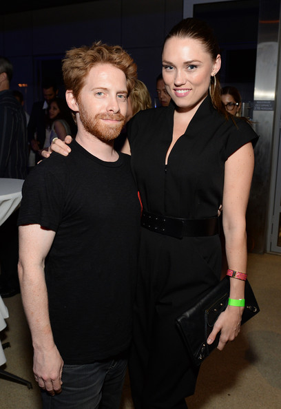 Clare Grant Leather Clutch [montblanc presents the,party,l,little black dress,fashion,dress,event,fashion design,haute couture,cocktail dress,style,formal wear,los angeles,the shore hotel,santa monica,california,actors,seth green,clare grant]