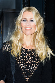 Claudia Schiffer showed off a gorgeous golden hairstyle during her book signing.