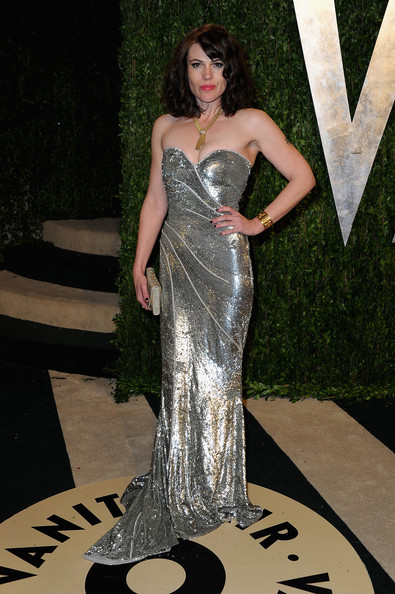 Clea DuVall Strapless Dress