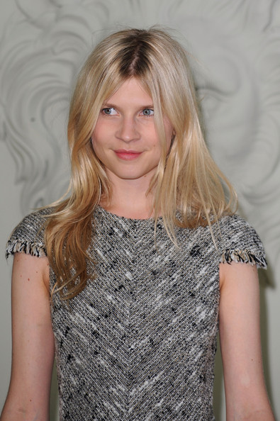 Clemence Poesy Long Straight Cut with Bangs