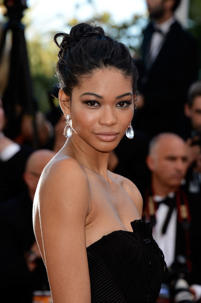 Chanel Iman's Purposefully Messy Updo
