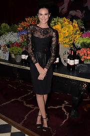 Odette's dress took the cake for the sexiest LBD ever with lace insets and a leather peplum.