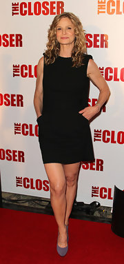 Kyra Sedgwick donned a classic LBD for the celebration of the 100th episode of 'The Closer.'