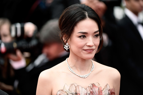 Shu Qi was elegant with her delicate necklace and intricate earrings at the 'Le Giace Et Le Ciel' premiere at the 68th Annual Cannes Film Festival.