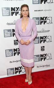 Amy Adams wasn't afraid to show some cleavage in this lavender Prabal Gurung number during the gala presentation of 'Her.'