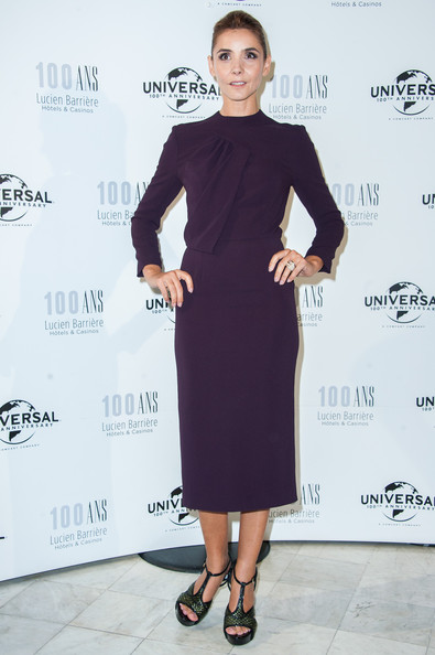Clotilde Courau Platform Sandals [dress,clothing,cocktail dress,little black dress,fashion,fashion model,shoulder,footwear,fashion design,formal wear,clotilde courau,hotel,royal barriere,deauville,france,lucien barriere,universal,deauville american film festival,universal 100th anniversary,anniversary]