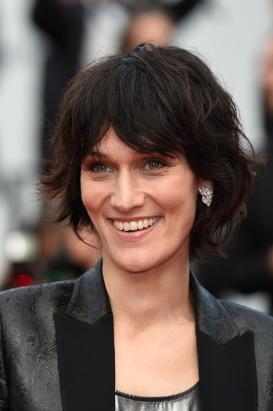 Clotilde Hesme Messy Cut [twin peaks,hair,hairstyle,face,eyebrow,chin,layered hair,bangs,black hair,lip,brown hair,red carpet arrivals,screening,cannes,france,cannes film festival,palais des festivals]