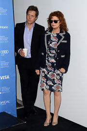 Susan Sarandon's blue blazer with white piping added an extra preppy touch to the star's red carpet look.