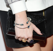 Whitney Port accessorized with a stylish black envelope clutch when she attended the Club Tacori event.