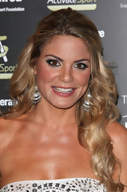 Charlotte Jackson wore shimmering metallic eyeshadow at the Co-operative Be Inspired Dinner. To try her look at home, apply a frosty white or silver shadow all over eye lids. Next, swipe a heavy line of black eyeliner along the top and bottom lash lines and use a black eye pencil to line the inner rims of eyes. A deeper metallic silver shade of shadow is then applied on the outer edges of the eyelids and blended into creases. To finish this super hot look, apply several coats of a volumizing mascara.