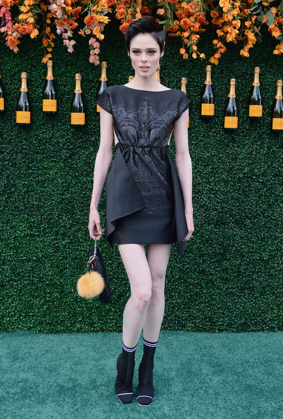 Coco Rocha Lace Up Boots [clothing,dress,fashion,shoulder,footwear,fashion model,carpet,joint,little black dress,leg,arrivals,coco rocha,jersey city,new jersey,liberty state park,veuve clicquot polo classic]