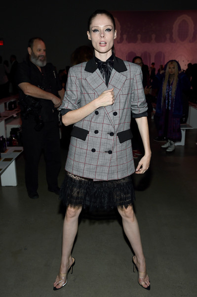 Coco Rocha Blazer [shows,the shows,fashion,event,fashion design,dress,fun,performance,haute couture,anna sui,coco rocha,front row,front row,gallery i,new york city,spring studios,new york fashion week]