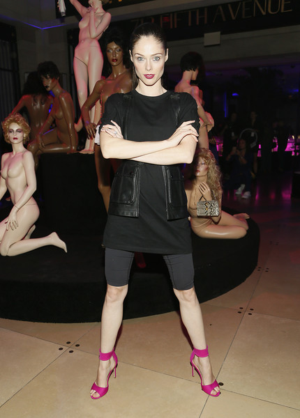 Coco Rocha T-Shirt [fashion,clothing,pink,fashion model,fashion show,footwear,fashion design,event,dress,shoulder,alexander wang,coco rocha,bvlgari celebrate a.w.,712 fifth avenue,new york city,bvlgari]