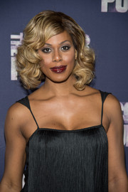 Laverne Cox got all dolled up with this curled-out bob for the Broadway opening of 'The Color Purple.'
