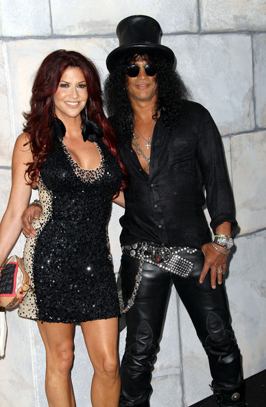 Slash accessorized his monochromatic ensemble with a studded belt when he attended the Comedy Central roast of Charlie Sheen.
