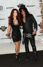 Slash looked oh-so-cool in his black leather pants and button-down combo at the Comedy Central roast of Charlie Sheen.