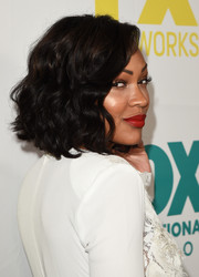 Meagan Good sported chic shoulder-length curls during the 20th Century Fox party at Comic-Con.