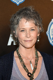 Melissa McBride kept it casual with this messy cut at the Comic-Con premiere party for 'Air.'