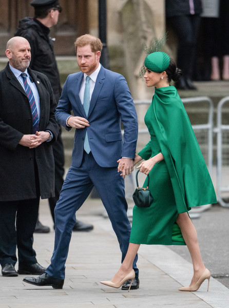 More Pics of Meghan Markle Cocktail Dress (1 of 84) - Meghan Markle Lookbook - StyleBistro [green,fashion,street fashion,suit,footwear,outerwear,dress,leg,human,event,harry,meghan markle,duke,service,fashion,sussex,duchess,duke of sussex,commonwealth day service,wedding,prince harry duke of sussex,wedding of prince harry and meghan markle,westminster abbey,commonwealth day,wedding of prince william and catherine middleton,engagement,duke,evoke.ie,royal family,celebrity]