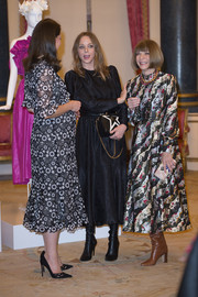 Anna Wintour worked a loud print at the Commonwealth Fashion Exchange Reception.