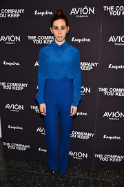Zosia Mamet played matchy-matchy at 'The Company You Keep' New York premiere when she sported an electric blue button down and matching slacks.