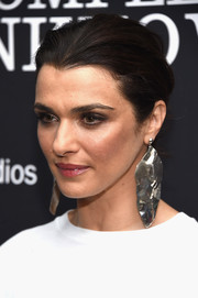 Rachel Weisz pulled her tresses back into a loose bun for the New York premiere of 'Complete Unknown.'